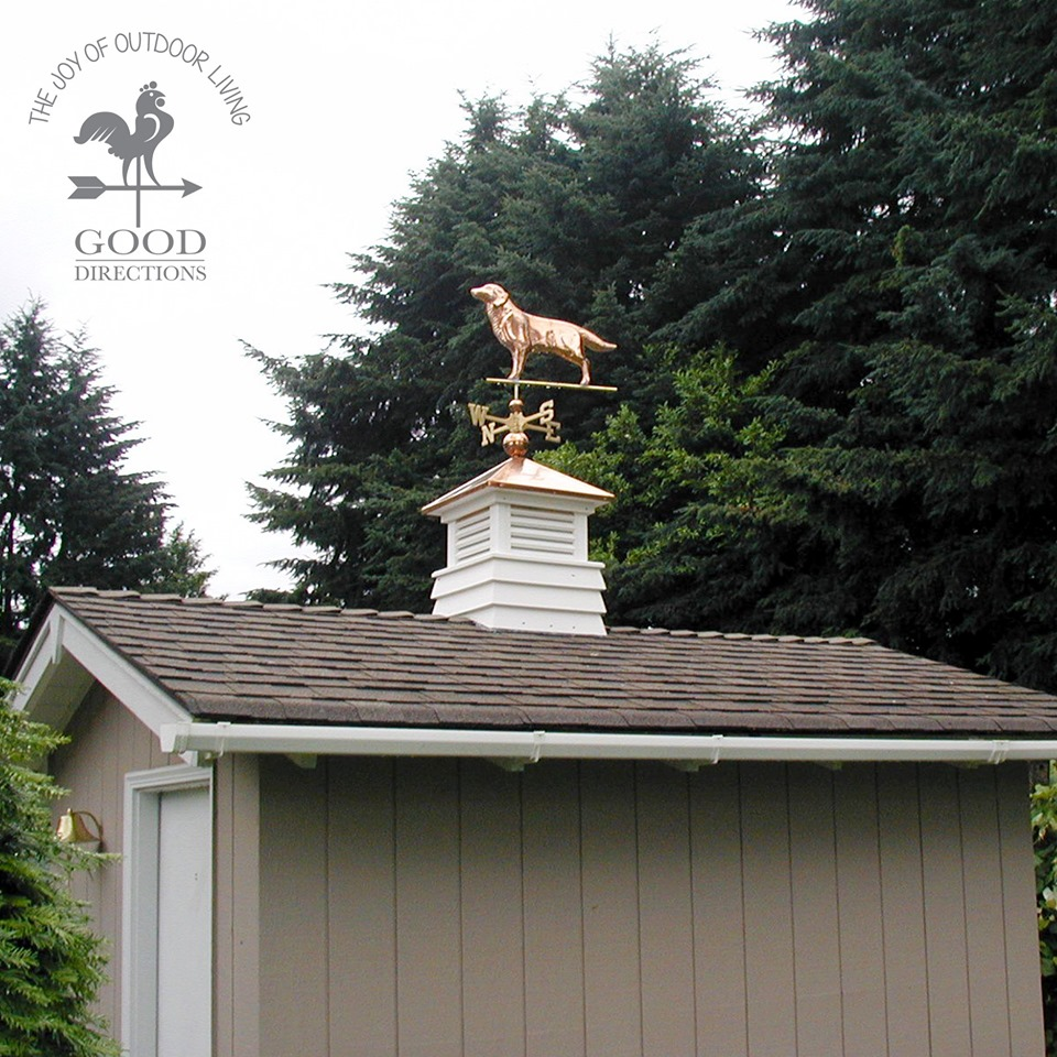 Golden Retriever Weathervane with mounting hardware